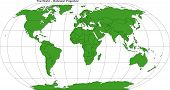World Robinson Map Projection