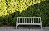 Garden Bench With Sun Shade Line