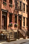 Small street in Greenwich Village in New York City