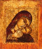 Old Icon Of Mother Of God