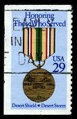 USA - CIRCA 1980: A stamp printed in USA shows image of the dedicated to the Honoring Those Who Serv