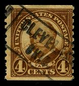 USA - CIRCA 1930: A stamp printed in USA shows image portrait William Howard Taft  was the 27th Pres