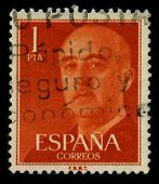 SPAIN-CIRCA 1975: A stamp shows image portrait Francisco Paulino Hermenegildo Teodulo Franco y Baham