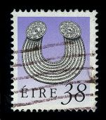 IRELAND - CIRCA 1980: A stamp printed in IRELAND shows image of the dedicated to the Irish jewelry,