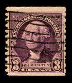 USA - CIRCA 1930: A stamp printed in USA shows Portrait President George Washington, circa 1930.