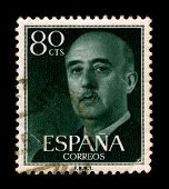 SPAIN - CIRCA 1975: A stamp printed in SPAIN shows image portrait Francisco Paulino Hermenegildo Teo
