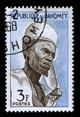 REPUBLIQUE DU DAHOMEY - CIRCA 1968:A stamp printed in REPUBLIQUE DU DAHOMEY shows image of the African leader, circa 1968.