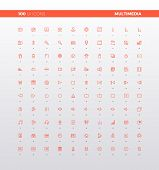 Ui Ux Multimedia Icons poster