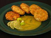 Potato And Squash Patties With Mango Sauce