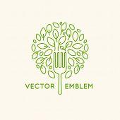 Vector Logo Design Template - Vegan Food Concept poster
