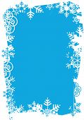 picture of bordure  - Frame of snowflakes on the red background - JPG