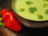 Hot Sweetpea Cream Soup
