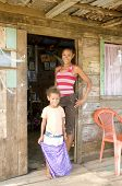 Mother Daughter Native House Big Corn Island Nicaragua