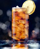 stock photo of iced-tea  - iced tea glamour shot - JPG