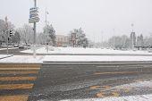 GENEVA - February 12, 2009 - Heaviest snowfall in Switzerland in 20 years. These photos were taken around the United Nations headquarters area in Geneva.