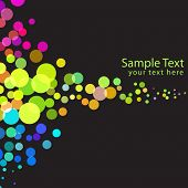 Vector - Illustration of colorful and overlapping retro dots flowing