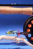 Fly Rod And Salmon Flies