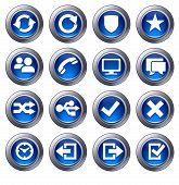 Website Icons Set 2 Blue