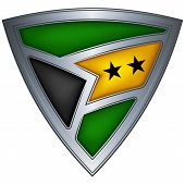 Steel shield with flag Sao Tome and Principe