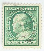 Benjamin Franklin. United States - circa 1910