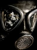 stock photo of gas mask  - Close up of an Israeli Gas Mask