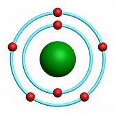 átomo de nitrogênio no fundo branco