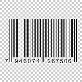 Barcode Product Distribution Icon. Vector Illustration On Isolated Transparent Background. Business  poster