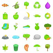 Environmental Pollution Icons Set. Cartoon Set Of 25 Environmental Pollution Icons For Web Isolated  poster