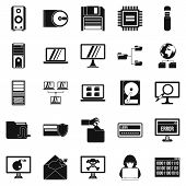 Data Recovery Icons Set. Simple Set Of 25 Data Recovery Icons For Web Isolated On White Background poster
