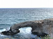 A Popular Place On The Coast Of Cyprus, A Beautiful Rocky Coastline On A Sunny Summer Day poster