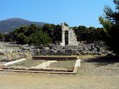 image of epidavros  - Ruins of a temple in Epidavros  - JPG