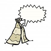 voice coming from tepee cartoon