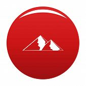 Mountain For Extremal Icon. Simple Illustration Of Mountain For Extremal Vector Icon For Any Design  poster