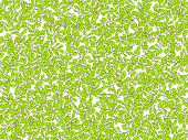Summer Green Leaves Vector Seamless Pattern. Deciduous Tree Leaf Pattern, Falling Cartoon Leaves On  poster