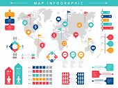 World Infographic. Business Presentation People Population Vector Infographic Template. Illustration poster