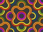 Pattern Stylish. Abstract Pattern Lines Swirl. Design Of Pattern Round Vector With Seamless Patterns poster