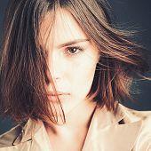 Glamour Fashion Model. Woman. Beauty Salon And Hairdresser. Fashion Portrait Of Woman. Autumn Fashio poster
