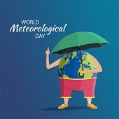 Vector Illustration On The Theme World Meteorological Day. poster