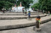 picture of phallus  - Monement with lot of phalluses on the hill Doitong in Chiang Rai Thailand - JPG