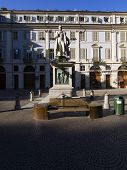 Piazza Gioberti Particular, Turin Piedmont Italy