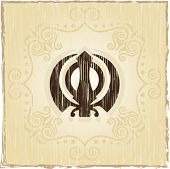 stock photo of khanda  - Grunge Ek Onkar - JPG