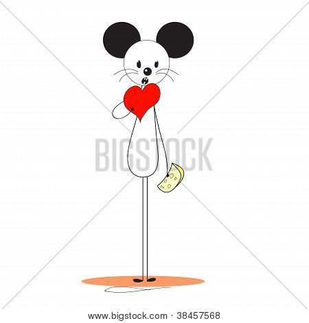 Mouse theme image vector illustration