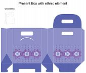 Vector Design Template For Gift Box