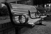 image of ybor city  - Detail of a Bench. Ybor City. Tampa Florida.