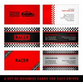 Business cards red race - first set