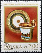 POLAND - CIRCA 1981: A Stamp printed in Poland shows antique Faience circa 1981