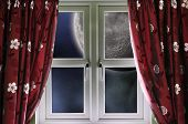 Moon through a window