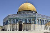 Dome Of The Rock Temple, Jerusalem.
