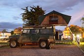 Safari Jeep With A Roof Tent