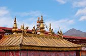 Gilt Roof Of Jokhang Temple
